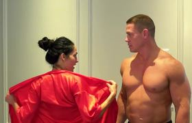 John Cena And Nikki Bella Meet Promise And Get Naked Before They New 500 Thousand Subscribers