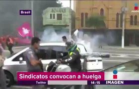 Huelgas violentas en Brasil