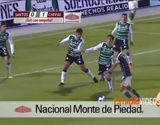Santos vs Chivas Guadalajara 0 1 Gol de Omar Bravo 312014
