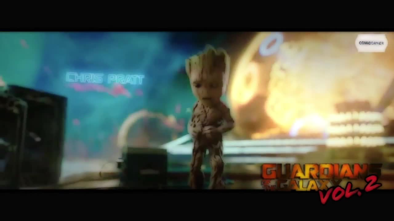 Guardians Of The Galaxy Vol 2: Baby Groot Dancing To Opening Credits