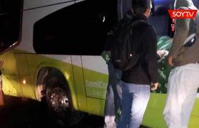 Un bus cayó a un socavón en pleno recorrido en las cercanías de Taltal