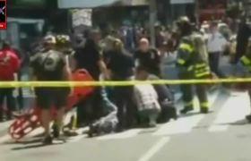 Auto atropella a peatones en Times Square Nueva York