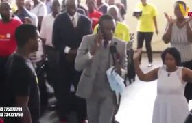 African Preacher says he can communicate over the phone with God