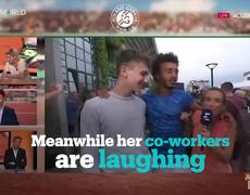 French tennis player forcibly kisses female journalist on live TV