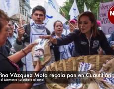 Josefina Vázquez Mota regala pan en Cuautitlán