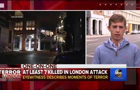 London terror attack eyewitness describes chaotic scene
