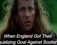 When England Got Their Equalizing Goal Against Scotland