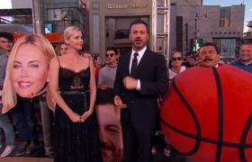 Jimmy Kimmel Live: Three-Point Challenge with Charlize Theron