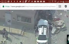 CAR CRASHES Into CROWD Near BOSTON'S LOGAN AIRPORT