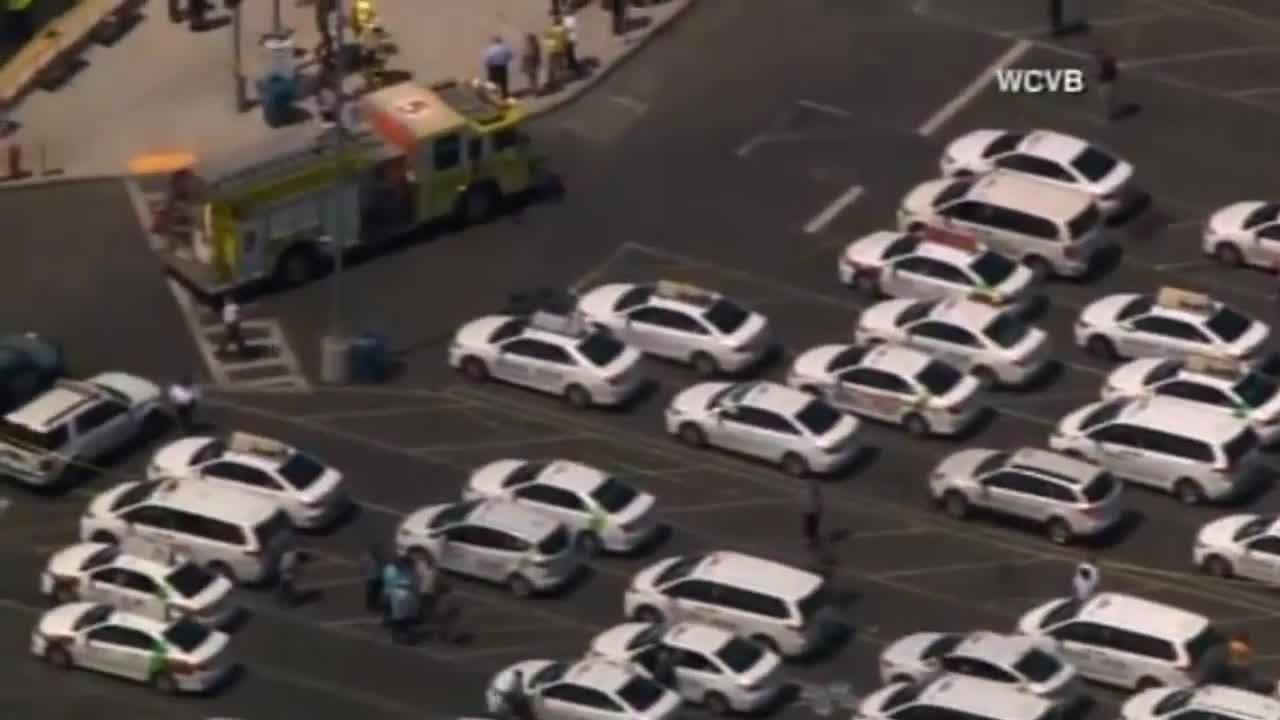 Car Hits Pedestrians At Boston's Logan Airport 7/3/17