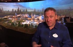 Star Wars Land model tour w/ Imagineer Scott Trowbridge at D23 Expo 2017