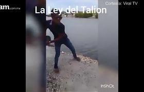Ley del Tailión a joven que arrojó a un perro al mar