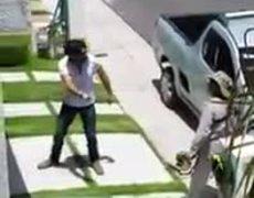 #LordMiPasto - Hombre maltrata a señor que corta el pasto