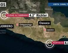 Dos sismos sacuden Oaxaca y Guerrero
