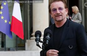 U2's Bono Meets French President Macron to Discuss Poverty