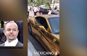 Indignante hijo de Romero DeChamps en Ferrari chapeado en oro en Mónaco