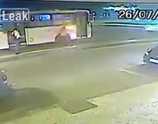 #CCTV: Man throws woman in front of bus