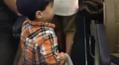 #ADORABLE: A two-year-old boy brought some fun back to flying by fist-bumping all of the passengers