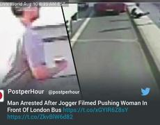 Man Arrested After Woman Pushed In Front of Bus