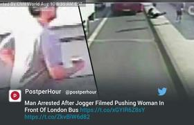 Hombre arrestado después de empujar a mujer delante de autobús