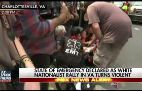 Car drives through crowd of #Charlottesville protesters