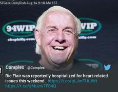 WWE Legend Ric Flair Hospitalized