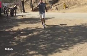 Justin Bieber looks sweaty leaving Runyon Canyon after a hike