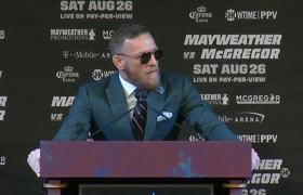 Floyd Mayweather and Conor McGregor's final press conference before the fight
