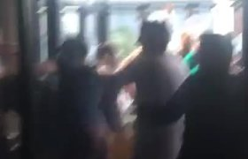 Brawl after Mayweather fight vs McGregor in a bar