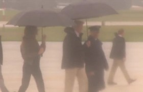 Melania Depart For Texas Amid EPIC Flooding 8/29/17