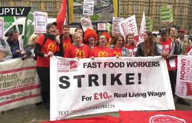 McStrike on the menu: UK fast food workers rally for better working conditions