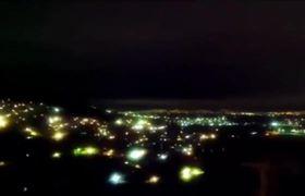 Increibles Luces en el cielo después del terremoto en México