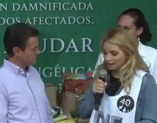 EPN Y Angélica Rivera AGRADECEN APOYO A DAMNIFICADOS EN CENTRO DE ACOPIO