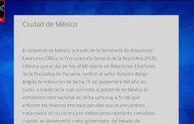 Concede Panamá la extradición de Roberto Borge a México