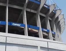 71 Quake shakes Azteca Stadium #PrayForMexico