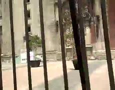 Caida de estatua en el Campanario de la Catedral Metropolitana tras sismo