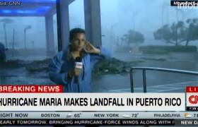 #VIRAL: The force of Hurricane Maria dragged a reporter when reporting