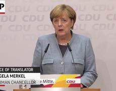 Raw - Merkel Says She Will Win Voters Back