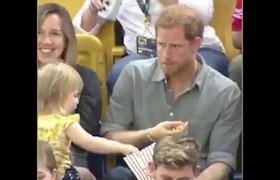 #VIDEO: Toddler steals Prince Harry's popcorn #CUTE