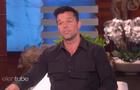 Ricky Martin Visits Ellen to Talk About Helping Puerto Rico