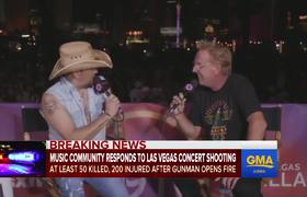 Raw - Country music stars pray for victims of Las Vegas shooting