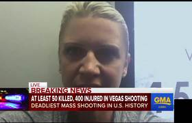 Raw - Las Vegas eyewitness recalls telling people to 'get down'