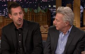 Adam Sandler Makes Jimmy Show Dustin Hoffman His Impression of Him