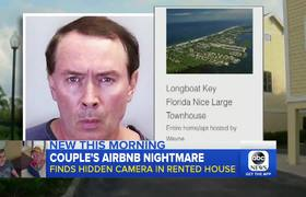 Couple find hidden camera in Airbnb