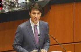 Justin Trudeau en el Senado de la República de México Sesión Solemne