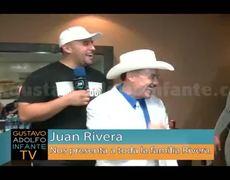 Juan Rivera presenta la dinastía Rivera momentos antes del Tributo a Jenni Rivera en la Arena Monterrey