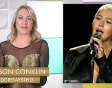 Christina Aguilera's Whitney Houston Tribute Makes Pink CRINGE! -- 2017 AMAs