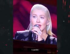 Christina Aguilera Whitney Houston 2017 AMAs tribute performance Media reaction Pink face