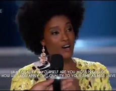 Miss Universe 2017/2018 Final Top 3 Question and Answer