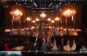 Fergie performance at Miss Universe 2017/2018 Pageant Night Evening Gown Competition